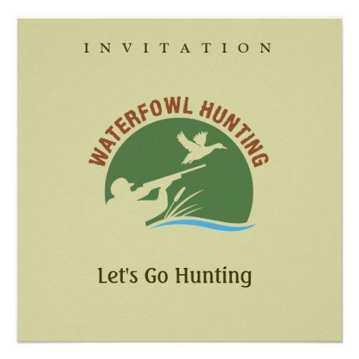 Waterfowl Hunting Invitation