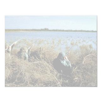 "Waterfowl Hunting 4.25"" X 5.5"" Invitation Card"