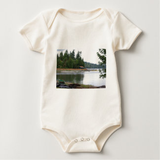 Waterfront cabin baby bodysuit