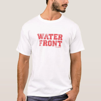 Waterfront T-Shirt /Red on White