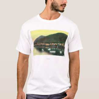 Waterfront View of Indian TownSitka, AK T-Shirt