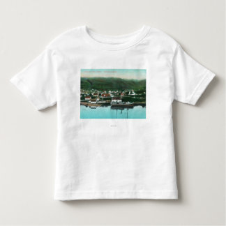 Waterfront View of the City and Steamer Toddler T-Shirt