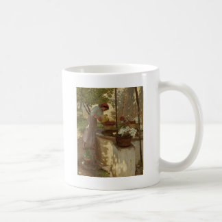 Watering Flowers from Well Coffee Mug