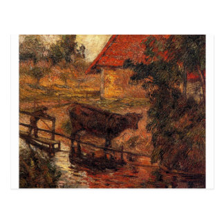 Watering place by Paul Gauguin Postcard