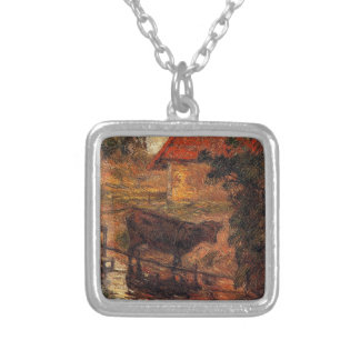 Watering place by Paul Gauguin Silver Plated Necklace