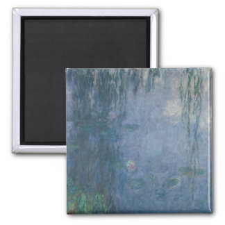 Waterlilies 2 square magnet