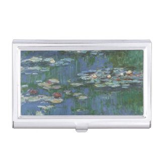 Waterlilies by Claude Monet, Vintage Flowers Business Card Cases