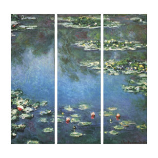 Waterlilies by Claude Monet, Vintage Flowers Canvas Print