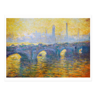 Waterloo Bridge, Grey Weather, 1900 Claude Monet Postcard