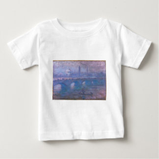 Waterloo Bridge, Misty Morning by Claude Monet Baby T-Shirt