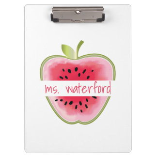 Watermelon Apple Personalised Teacher Clipboard