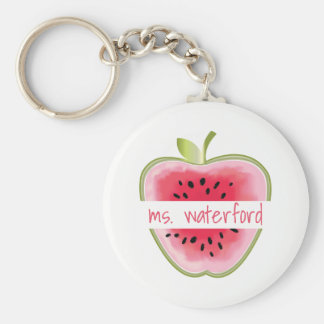 Watermelon Apple Teacher Key Ring