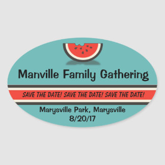 Watermelon Family Reunion Save the Date Stickers