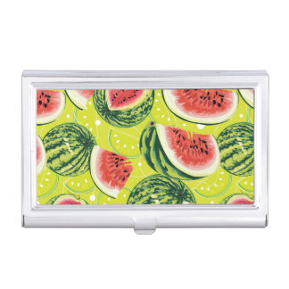 Watermelon Pattern Business Card Holder