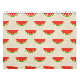 Watermelon Print Rustic Chic Vintage Old Fashioned Calendars