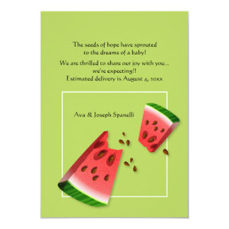 Watermelon Seeds Pregnancy Announcement