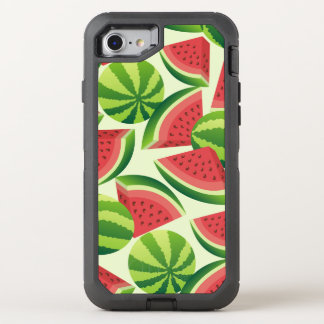 Watermelon slice seamless background OtterBox defender iPhone 8/7 case