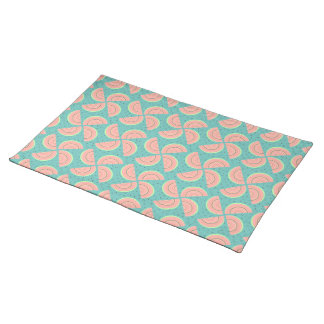 Watermelon Slices Pinwheel and Boho Seeds Look Placemat