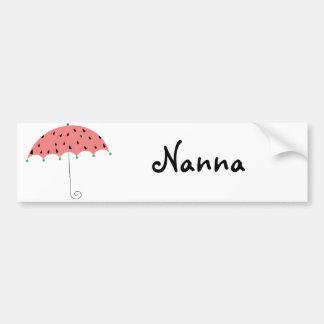 Watermelon Spring Umbrella Bumper Sticker