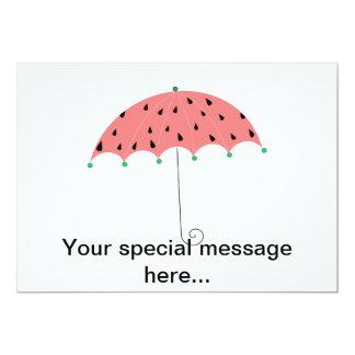Watermelon Spring Umbrella Card
