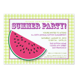 Watermelon Summer Cookout/BBQ Invitation (red)