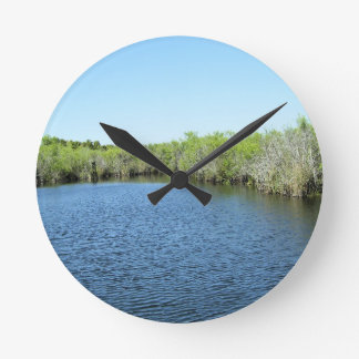 WATERS OF THE EVERGLADES ROUND CLOCK