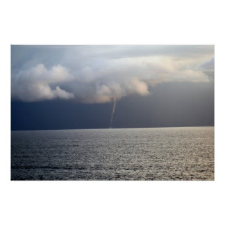 Waterspout at sea poster