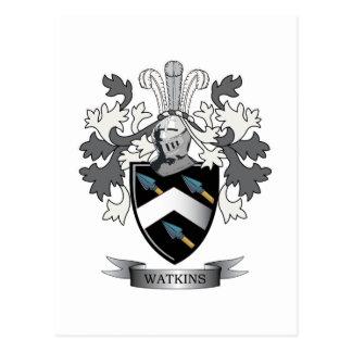 Watkins Family Crest Coat of Arms Postcard