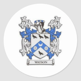 Watson Family Crest &  Reunion Products Round Sticker