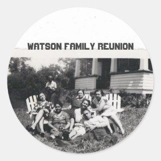 Watson Family Reunion Round Sticker