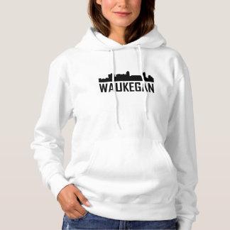 Waukegan Illinois City Skyline Hoodie