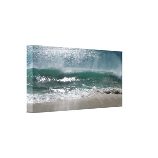 wave crashing ashore gallery wrap canvas