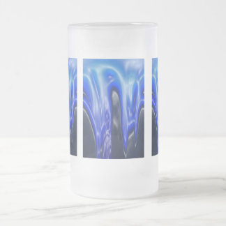 Wave, Designs By Che Dean 16 Oz Frosted Glass Beer Mug