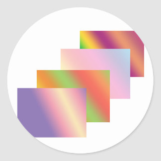 Wave Stack Art : Buy Nouvelle Be a Trend Setter Round Sticker