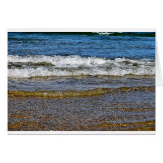 WAVES AT THE BEACH QUEENSLAND AUSTRALIA CARD