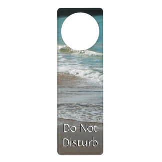 Waves Lapping on the Beach Turquoise Blue Ocean Door Hanger