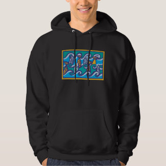 Waves of Fish Hoodie