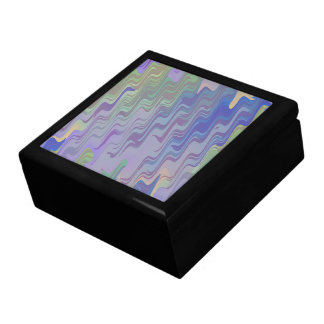 Waves of Green and Purple Gift Box