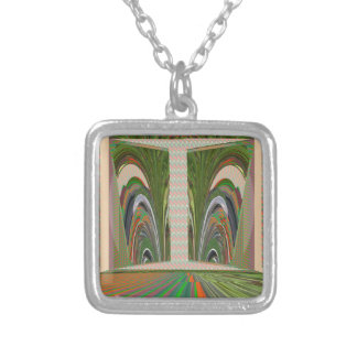 WAVES pattern made of leaf grass nature colors fun Pendant