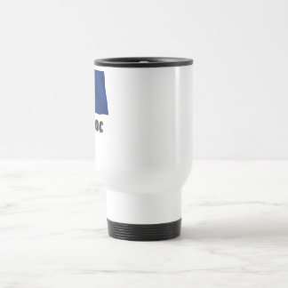 Waving Barbados Flag with name in Russian Travel Mug