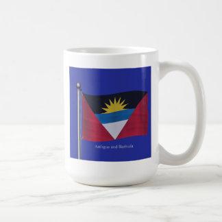 Waving Flag of Antigua and Barbuda Coffee Mug