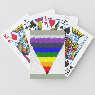 Wavy Block Fibres Rainbow Triangle Funnel Bicycle Playing Cards