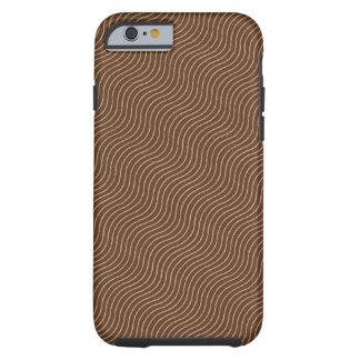 Wavy Calico Vintage Fabric Pattern Tough iPhone 6 Case