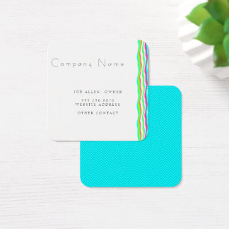 Wavy Lines Minimalist Square Business Card