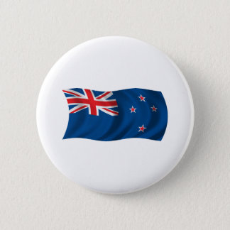 Wavy New Zealand Flag 6 Cm Round Badge