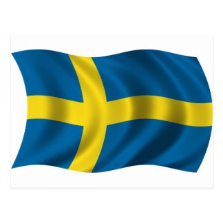 Wavy Sweden Flag Postcard