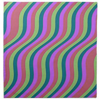 Wavy Urban Slide Stripes Napkin