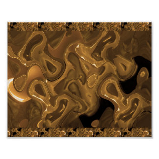 WAX Golden Abstract  : Cosmos Galaxy Infinity Poster