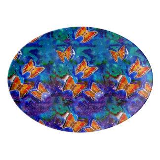 Wax Relief Butterflies Serving Platter