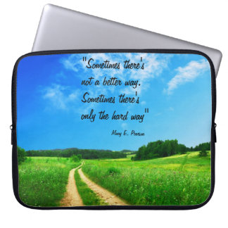 Way quote inspiration hope nature background laptop sleeve